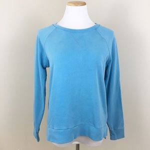 Madewell Hi-Line Blue Crew Neck Sweatshirt